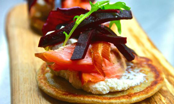 Beremeal Pancakes with Loch Duart Salmon