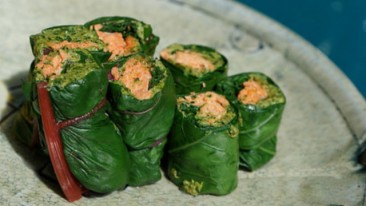 Salmon Fillet wrapped in Spinach